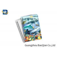Buy cheap Eco Friendly Paper 3D Lenticular Notebook Ocean / Animal Pattern With Spiral from wholesalers