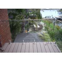 Buy cheap Balcony Glass Balustrade With Stainless Steel Spigots Outdoor from wholesalers