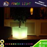 Buy cheap Plastic Glow LED Cubic Indoor&Outdoor Garden Flower Pot from wholesalers