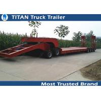 Buy cheap High strength steelHeavy haul low bed semi trailers kingpin height changeable from wholesalers