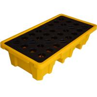 Buy cheap Plastic Secondary Containment Low Profile 2 drum storageSpill Containment Pallets For Drums from wholesalers