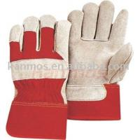 Buy cheap 11 inch Reinforced pig Skin palm Protective working Cow Leather Gloves 11009RD-11 from wholesalers