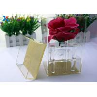 Buy cheap Valentine ' S Fresh Rose Transparent Gift Box , Acrylic Flower Case Chemical Resisdence from wholesalers