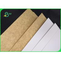 Buy cheap One Side Clay Coated Bleached White Top Kraft Back Liner Paper For Food Package from wholesalers