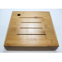 Buy cheap Custom Square Gift Packaging Bamboo Display Box, Wooden Tea Storage Box With 4 Compartments And Lids product