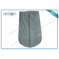 Buy cheap Grey Suit And Dress Covers , Breathable Clothes Covers With PVC Film from wholesalers