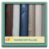 Buy cheap Custom 0.8mm - 1.4MM Leatherette Cloth PU Synthetic Leather For Shoe / Bag product