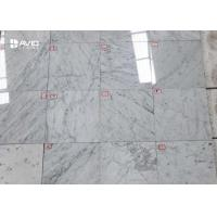White And Grey Marble Tile With 10mm Thickness For Bathroom Floor / Wall