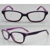 Buy cheap Purple / Orange Hand Made Kids Eyeglasses Frames , Eye Spectacles Frames from wholesalers