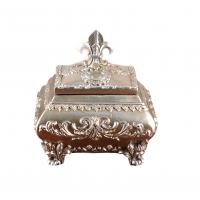 Buy cheap Attractive Ornate Silver Resin Trinket Box For House Decoration 15x12x12 Cm from wholesalers