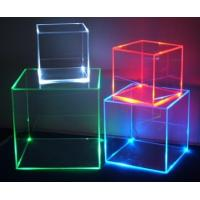 Buy cheap Led Cube Acrylic Display Case , Customized Perspex Show Box product