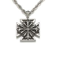 Buy cheap Man's Boys Stainless Steel Cross Pendant Necklace Fashion Jewelry from wholesalers