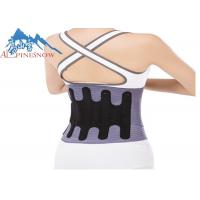 Buy cheap Factory price wholesale adjustable therapy lumbar metal fabric back brace for waist support from wholesalers
