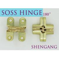 Buy cheap Satin Brass Soss Stainless Steel Concealed Hinges , Wings measure 3/8 Wide x 1-11/16 Long for 1/2 , SOSS #101 from wholesalers