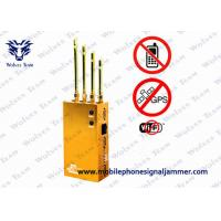 Quality Golden Mobile Phone GPS Jammer AC110V - 240V Jamming Range Radius 2 - 15m for sale