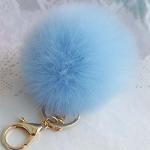 Buy cheap Hot sale pom pom custom fur ball keychain for handbag bag decoration from wholesalers