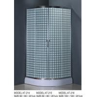 Buy cheap toughen glass framed shower enclosure , corner shower cubicles 90 x 90 X 200 / cm product