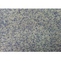 Buy cheap 57/58 Inch Grey Herringbone Wool Fabric Blue And White For Woman from wholesalers