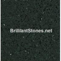 Buy cheap Artificial Quartz Stone Crystal Black Model 305, Stain Resistance, High Hardness from wholesalers
