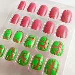 Buy cheap Beautiful Two Color Cracking Nails Art For Nail Beauty , Fake Nail Tips from wholesalers