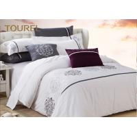 Buy cheap 300TC Satin Hotel Quality Bed Linen Custom Embroidery Hotel Duvet Cover Sets from wholesalers