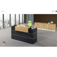 Buy cheap Black Wood Office Reception Table , Modern Reception Furniture Customized from wholesalers