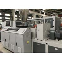 Buy cheap Plastic Profile Production Line Upvc Extrusion Machinery With Twin Screw Extruder from wholesalers