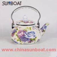 Buy cheap chinese traditional large capacity cast iron decal enamel tea pot product