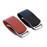 Buy cheap Premium Black Leather  Pen Drive USB Flash Drive Can Customized Logo from wholesalers