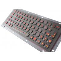 Buy cheap 64 keys USB stainless steel industrial pc keyboard / compact illuminated keyboard from wholesalers