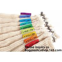 Buy cheap Reusable And Organic Natural Long Handle Cotton Mesh String Net Shopping Bag from wholesalers