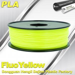 Buy cheap PLA Fluo-Yellow 3D Printer Fluorescent Filament  Materials 1.75 / 3.0mm product