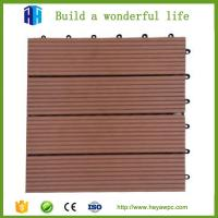 Buy cheap HEYA wpc decking tile 30x30 interlocking outdoor composite plastic wood tile flooring from wholesalers