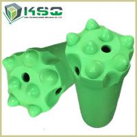 Buy cheap Dome Carbide Tipped Button Drill Bit For Metal Ore Mining Green Forging from wholesalers