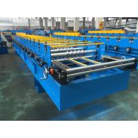 Buy cheap Manual Decoiler 7.5KW Roofing Sheet Making Machine With Hydraulic Cutting from wholesalers