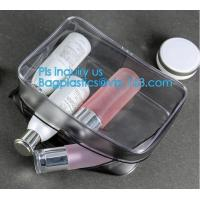 Buy cheap makeup bag mini clear PVC cosmetic bag, PVC makeup Bag Pouches Tote Clear Transparent Cosmetic Travel Bag, carry, handle from wholesalers
