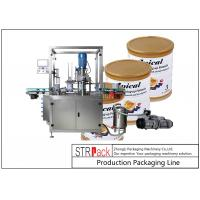 Buy cheap Linear Automatic Can Seaming Machine / Tin Sealing Machine For Vacuuming And Nitrogen Filling from wholesalers