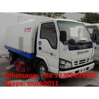 Buy cheap CLW5060TSLQ4 JAPAN brand ISUZU 4*2 LHD road sweeper truck for sale, best price ISUZU 120hp Euro 4 street sweeping truck from wholesalers