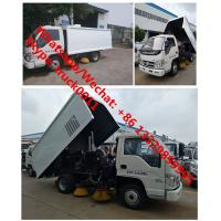 Buy cheap customized forland 4*2 RHD 3cbm road sweeping vehicle for Bangladesh, 2018s best selling forland mini street sweeper from wholesalers