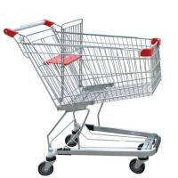 Buy cheap Unfolding Grocery Store Shopping Carts Four Swivel Wheels Zinc Plated from wholesalers