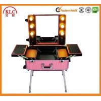 Buy cheap ABS aluminum materail case makeup case with handle lights and mirror with best quality made in China from wholesalers