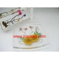 Buy cheap Real Flower Acrylic Coaster, Glass Napkin, Cup Pad, So Cute Gift, Pressed Flower Craft, Gift from wholesalers