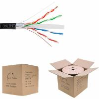Buy cheap 550MHz Cat6 1000 Ft Ethernet Cable , Solid Bare Copper Bulk Computer Ethernet Cable ETL Listed 24AWG 4 Pair product