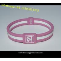 China custom debossed silicone wristbands factory ,ink filled print silicone rubber wristbands on sale