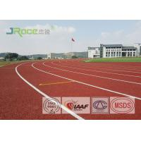 Buy cheap 8 Lanes Jogging Track Flooring , IAAF Approved Track Surfaces Outside Resistance To Wear from wholesalers
