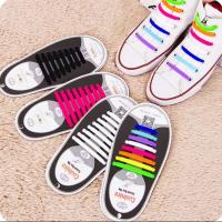 Buy cheap Cool Nice Unisex Man Women No Tie Silicone Shoelace Sneaker Rubber Shoelace, 8+8 Design With 12 Colors,For Sport Gift from wholesalers