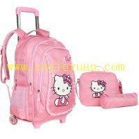 Buy cheap Hello kitty cartoon school trolley backpack  shoulder bag pencil bag set bag from wholesalers