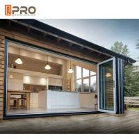 Buy cheap Black multi - Panels Aluminum Folding Doors Residential Energy Efficient from wholesalers