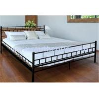 Buy cheap Sample Plain Metal And Wood Bed , Customized Metal King Size Bed With Pine Wood Slats from wholesalers