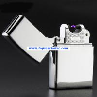 Buy cheap factory supply sliver USB electric lighter cigarette lighter ARC flameless from wholesalers